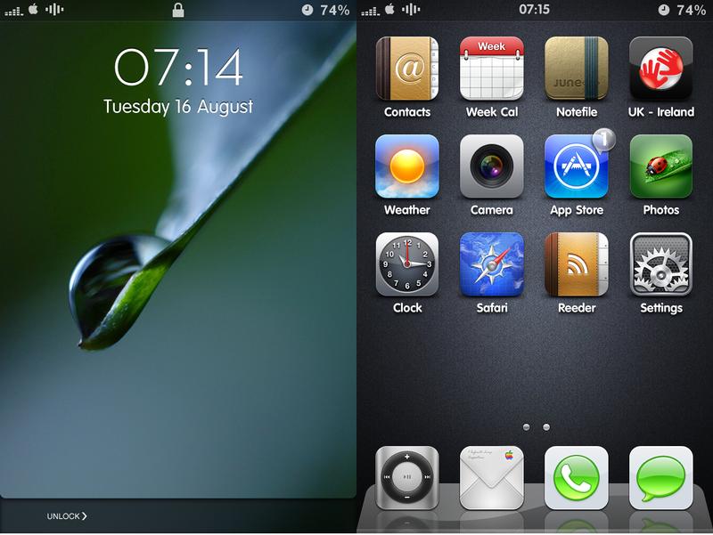 iPhone 4 Setup by Geordie-Boyo