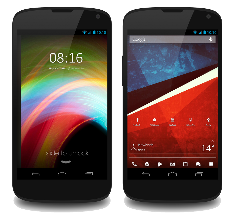 Simplistic SlimBean Android by Geordie-Boyo
