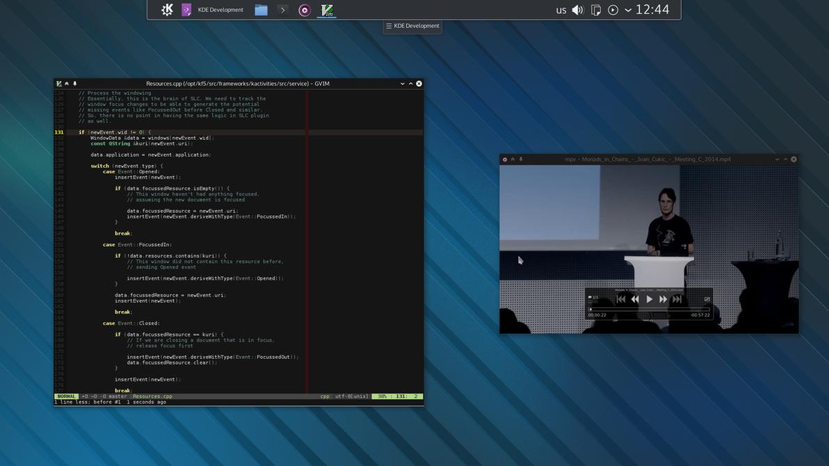 KDE Plasma 5 by white-dawn
