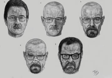 Transformation of Walter White by EduardoLeon