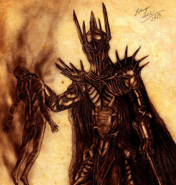 Concept Art Sauron X Gil Galad By Eduardoleon On Deviantart