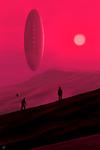 Contact in the red desert of Radhius 867c by EduardoLeon