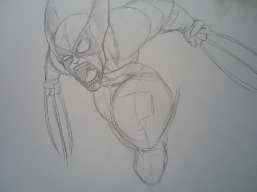 Wolverine gone beserk sketch by papabear7
