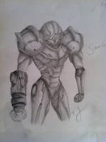 Samus Aran Sketch by luoSsuomynonA