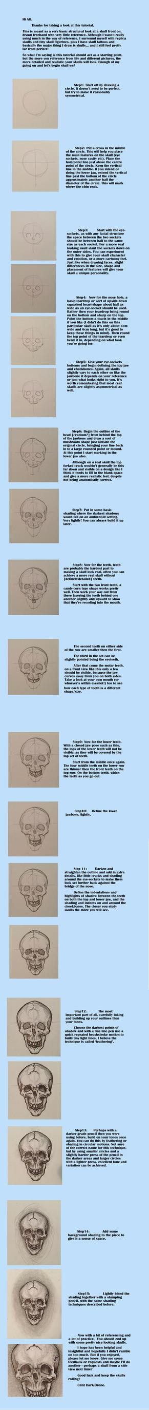Skull Tutorial (Front Face) by Dark-Drone