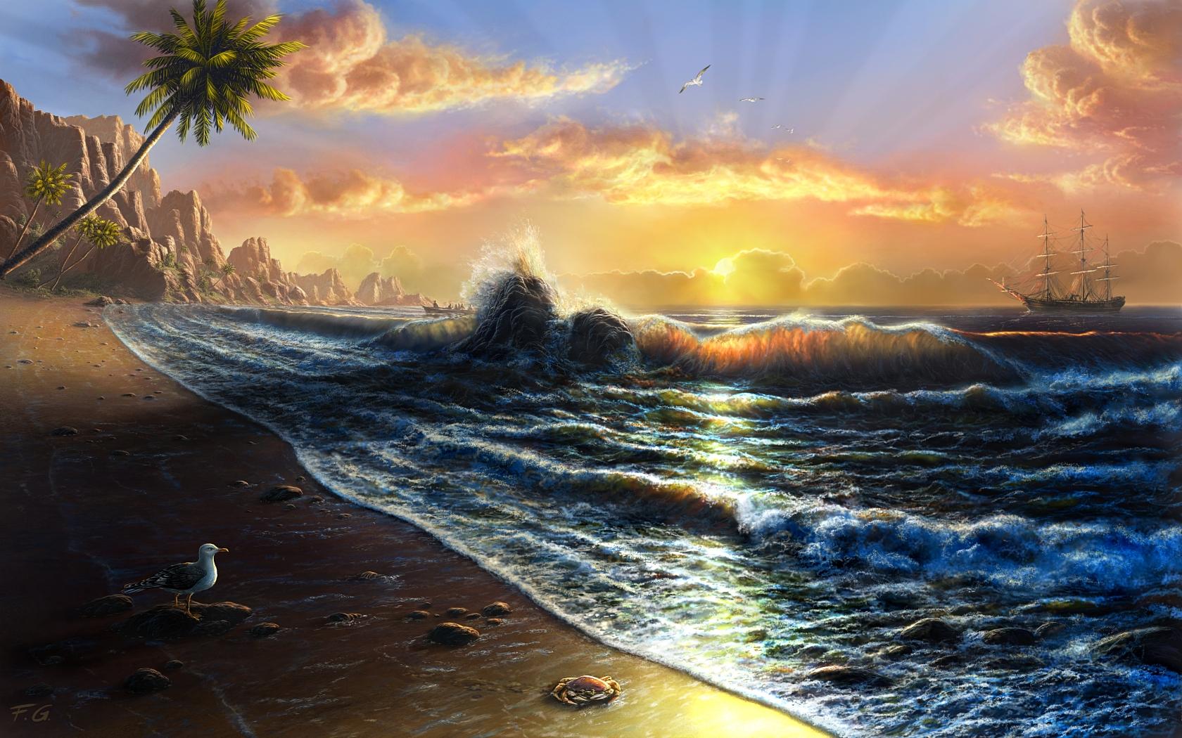 Tahiti by fel x on deviantart for Artwork landscapes