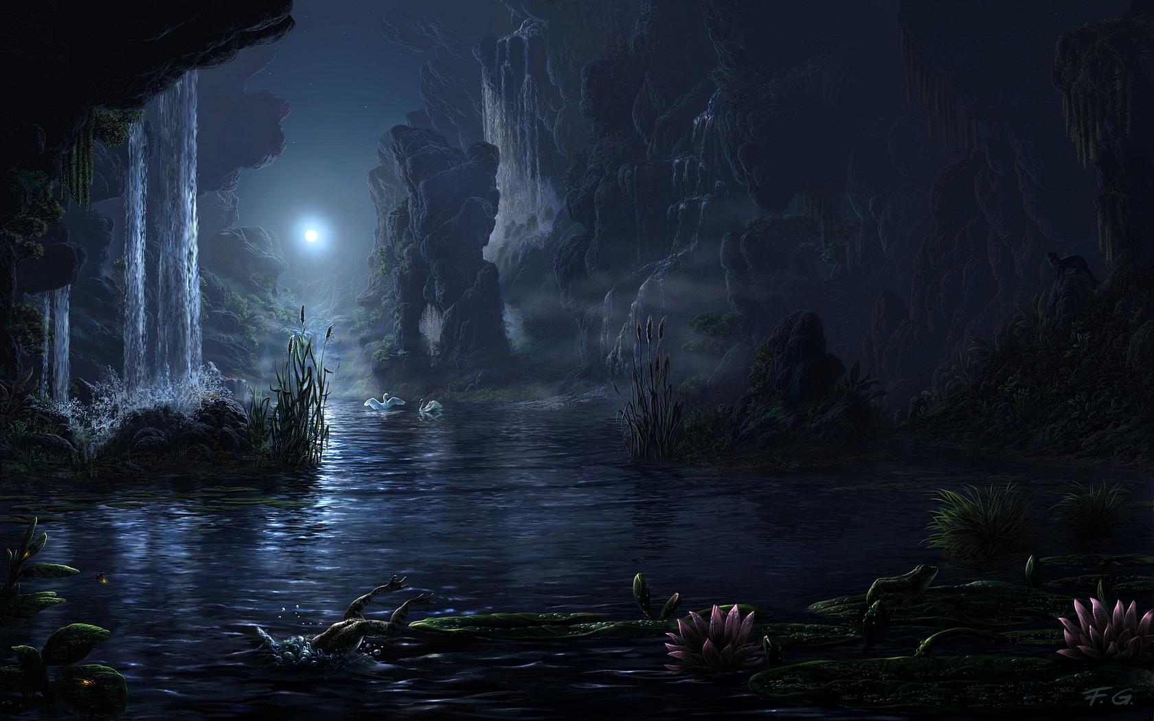 fantasy landscape favourites by thaiha1509 on DeviantArt for Fantasy Water Landscape  174mzq