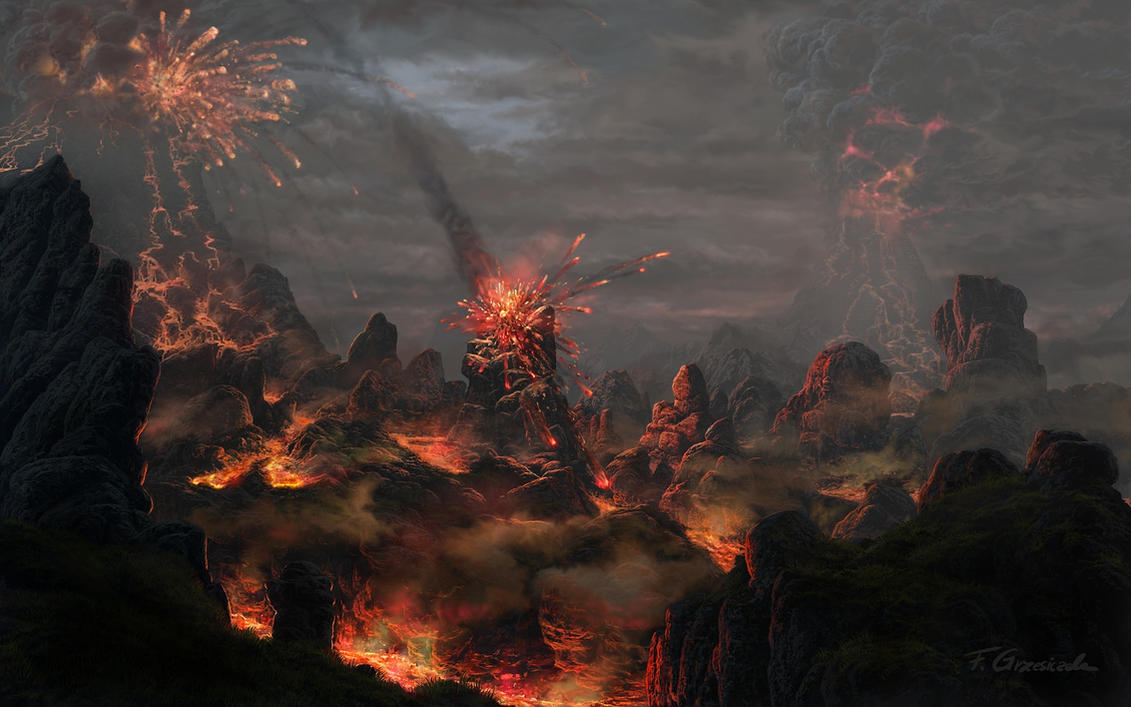 Volcanic eruptions by Fel-X