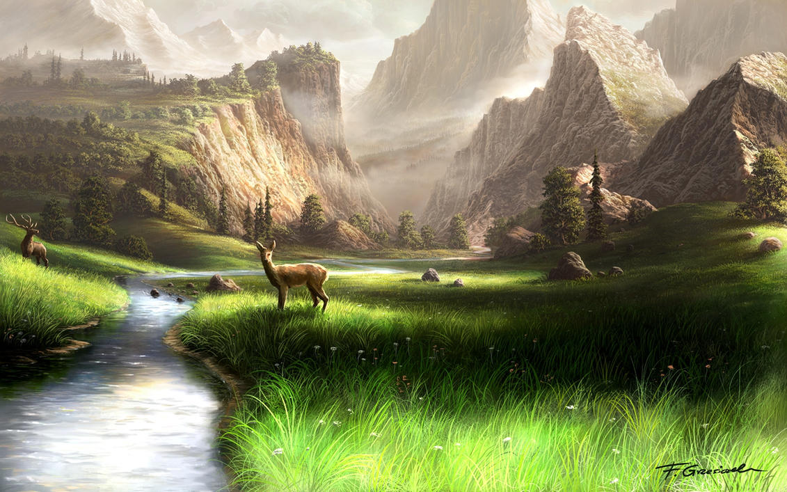 digital paintings scenery - photo #2