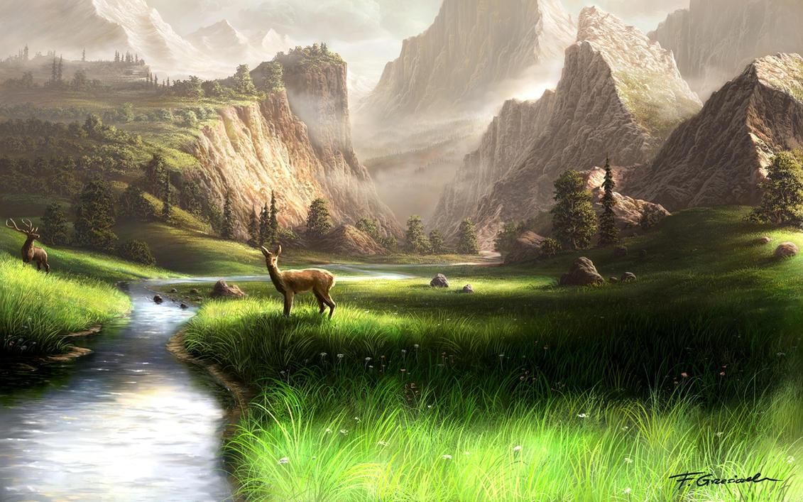 mountain landscape by fel x on deviantart