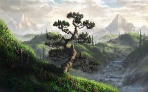 mountain landscape by Fel-X