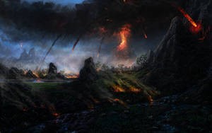 Volcano Eruption by Fel-X
