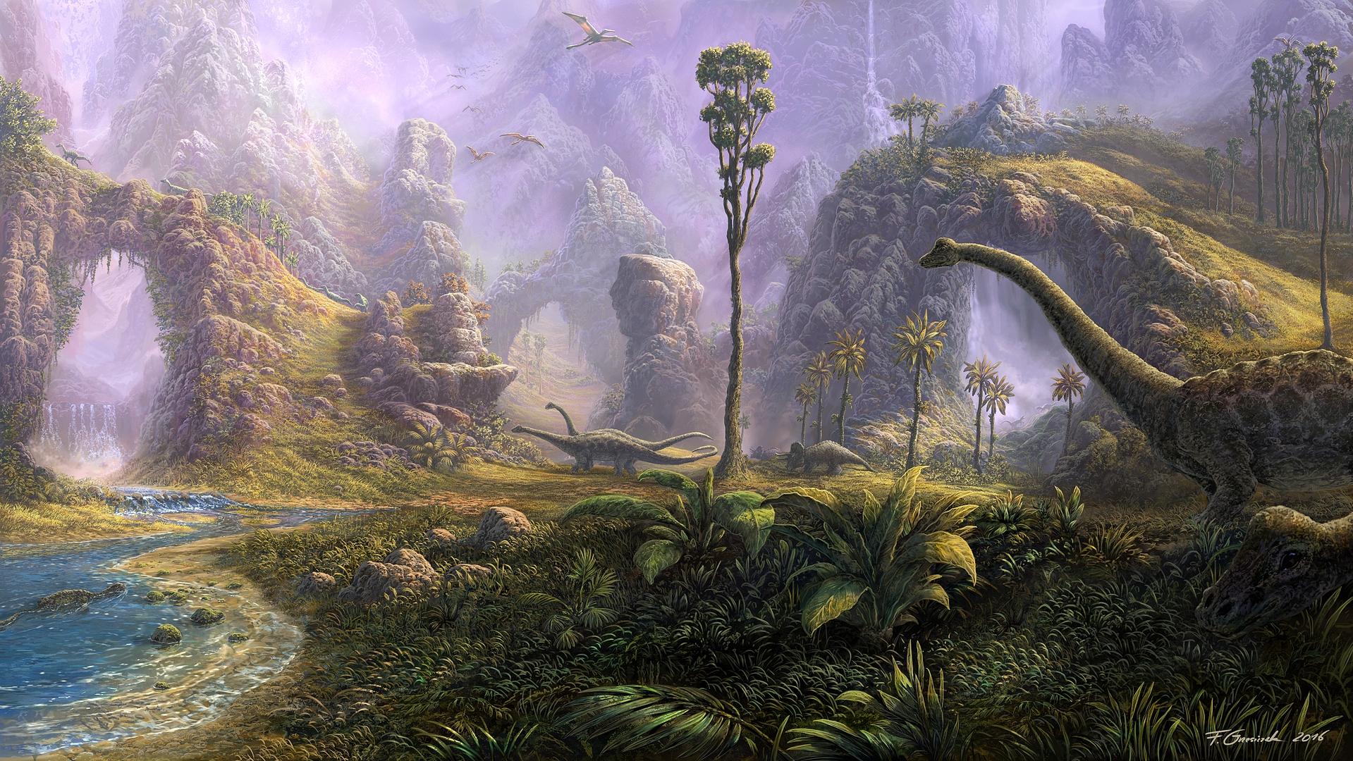 dinosaur landscape background - photo #6