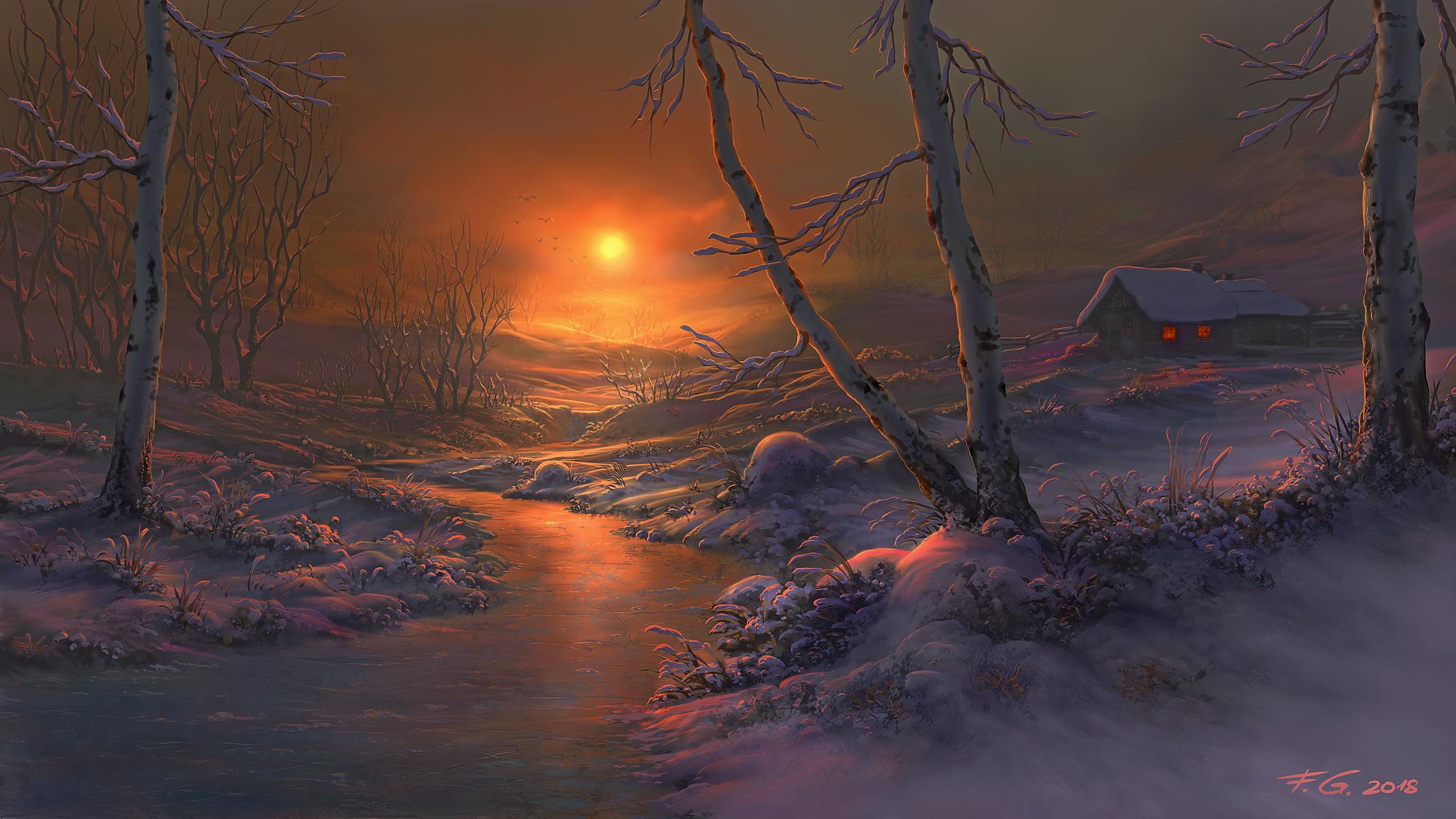 Birch Trees by Fel-X