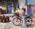 Woman With A Bicycle