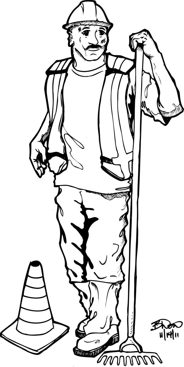 construction worker coloring page - construction worker 1 by bdonnell76 on deviantart