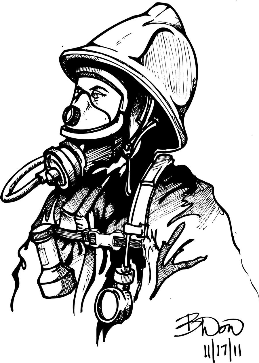 coloring book pages fireman - photo#29