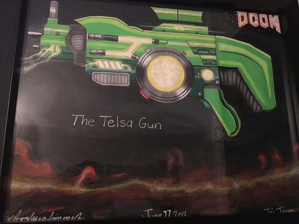 DOOM Telsa Gun Fan Made DLC Weapon (Consept Art) by Jeremyyoshi64 on