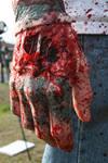 Zombie bloody hand
