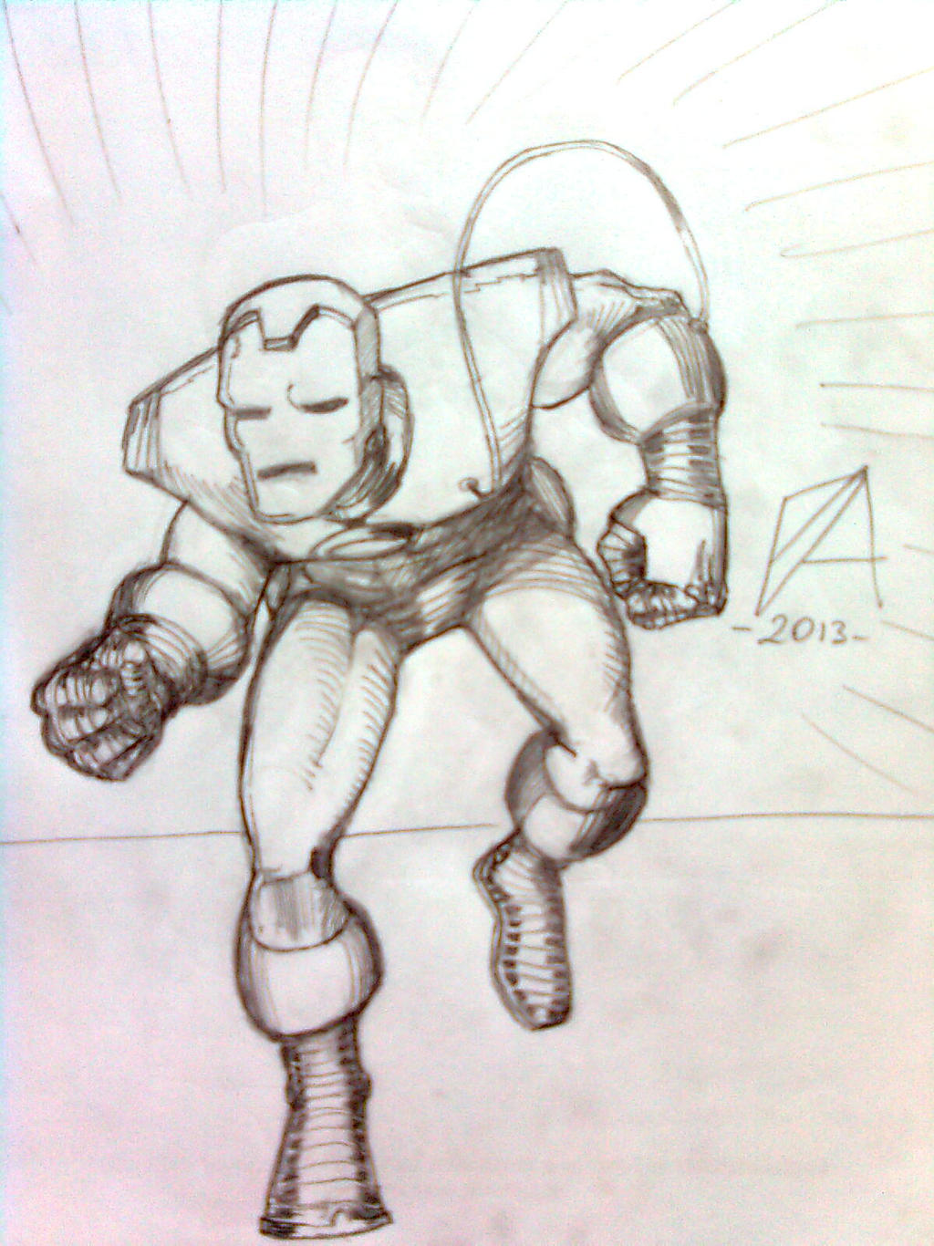 iron man pencil drawing by balogh44 traditional art drawings portraits ... Iron Man Pencil Drawings