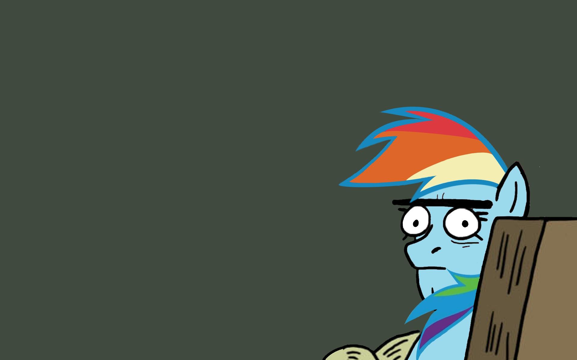 Rainbowdash Stare by stricer555