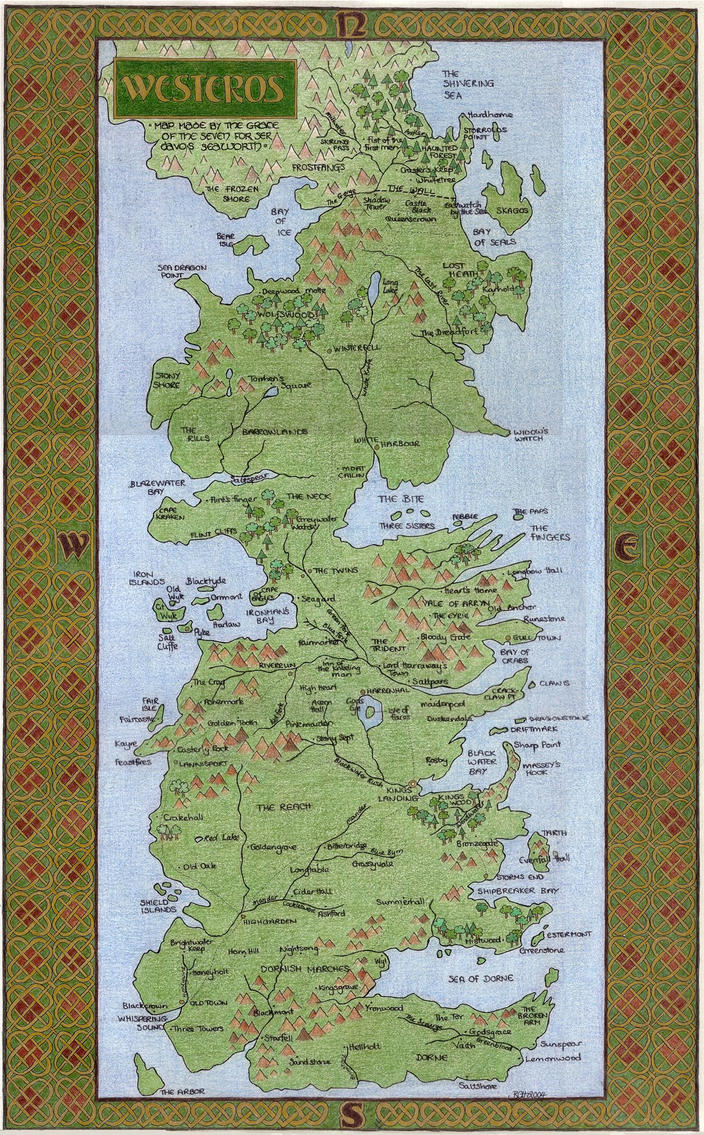 Map of Westeros by elegaer