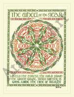 Celtic Wheel of the Year by elegaer