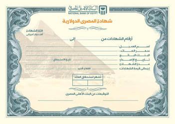 NBE - Dollar Certificate by remonfayez