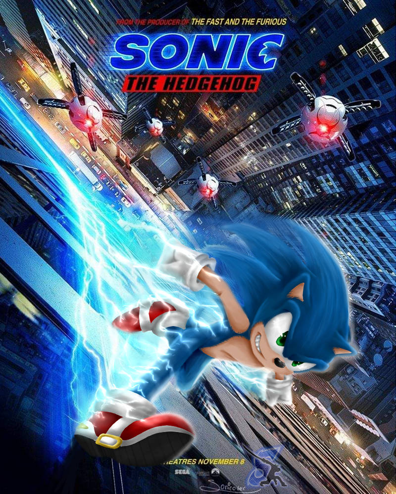 Sonic The Hedgehog The Movie Re Draw By Sonicover On Deviantart