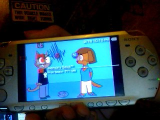 Someone's art on my PSP. by Killswitch762