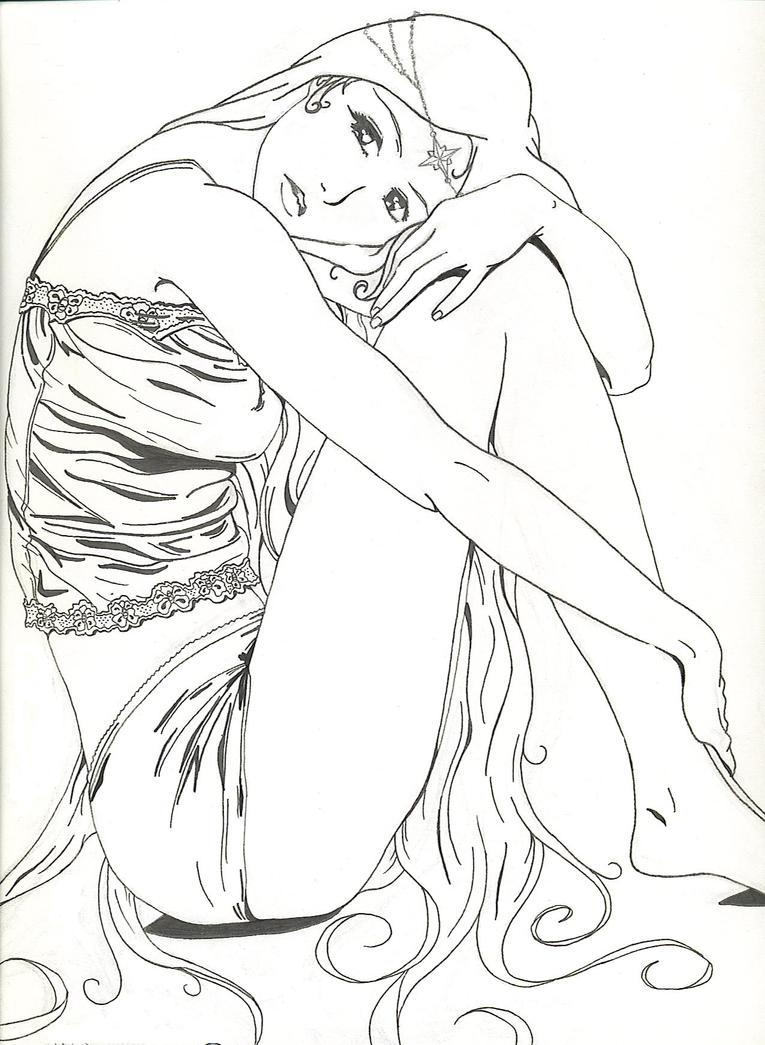 Daydreams: Sitting Girl by ccangel33