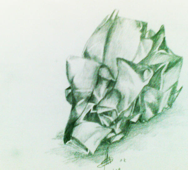 how to draw crumpled paper