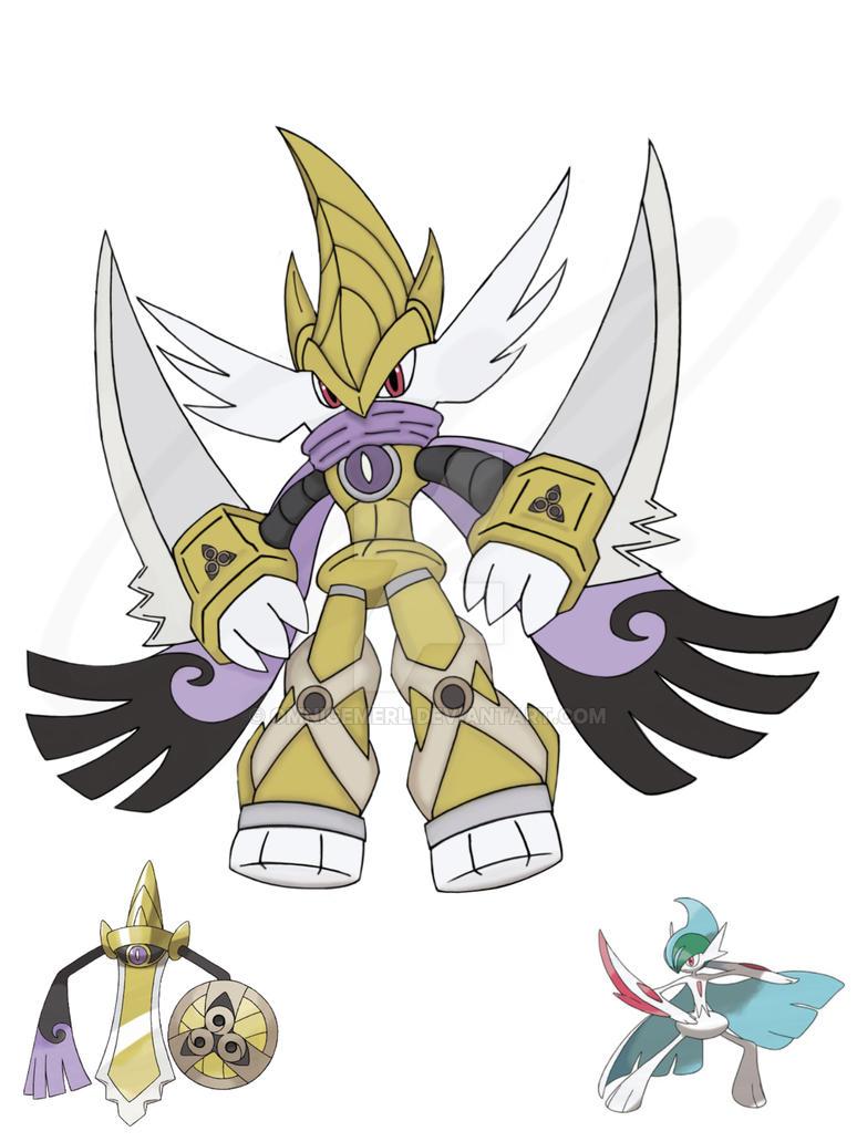 pokemon fusion mega galleslash by omnigemerl on deviantart