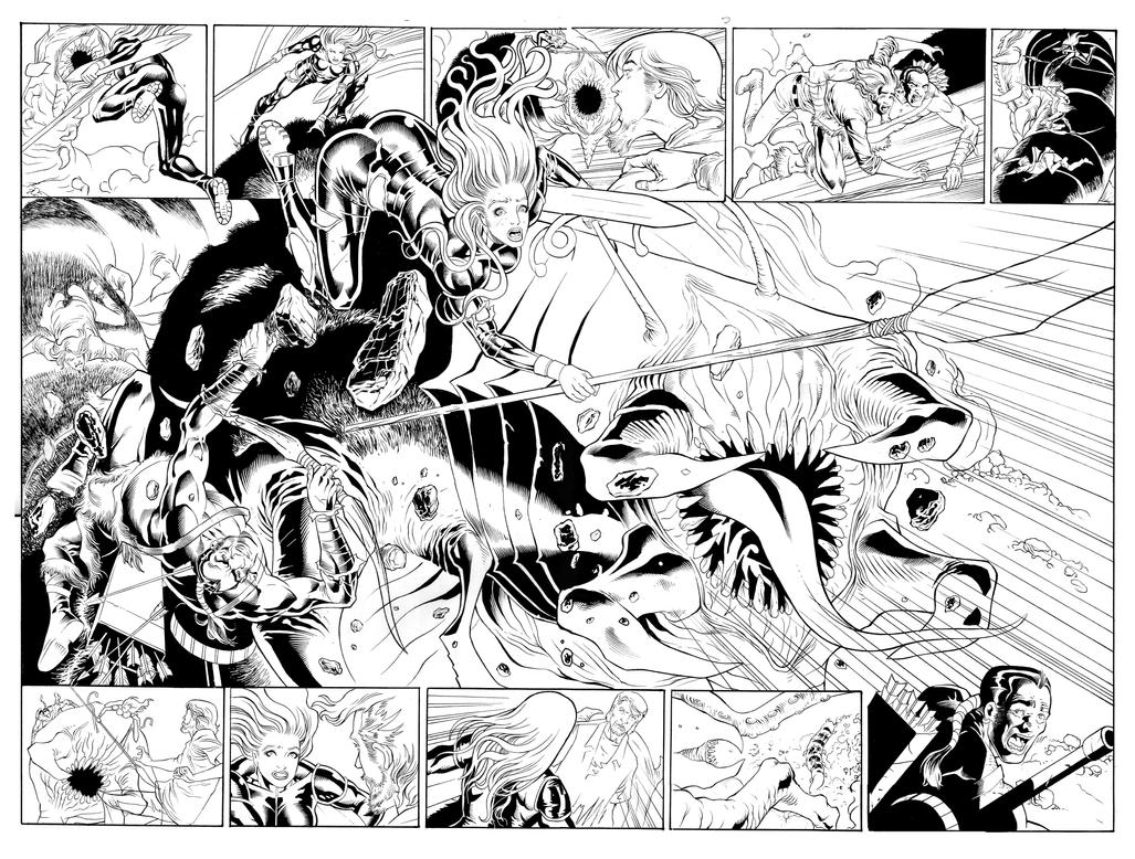 Jungle Girl #4 page 4,5 artjackjadson by jackjadson