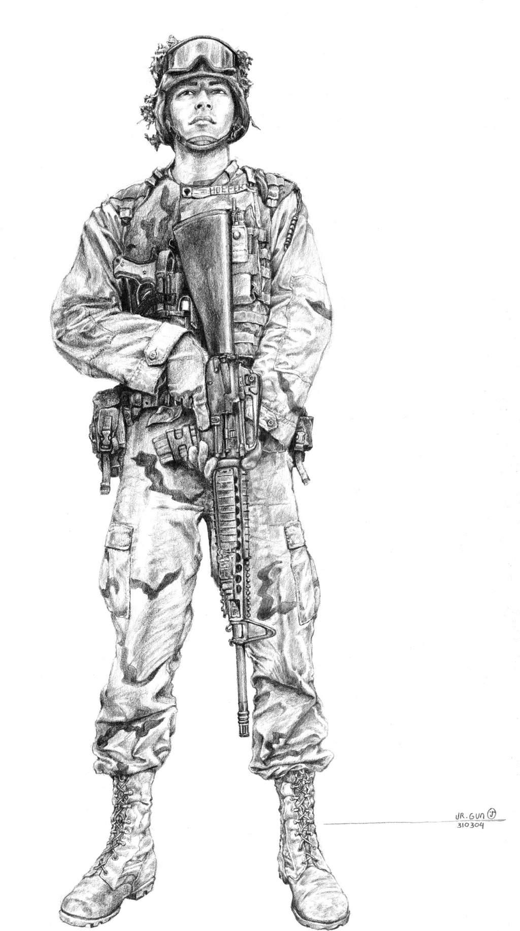 U.S. Army Soldier by h...