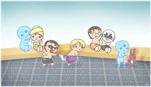 Lil' Watchmen at the Spa by Biigurutwin