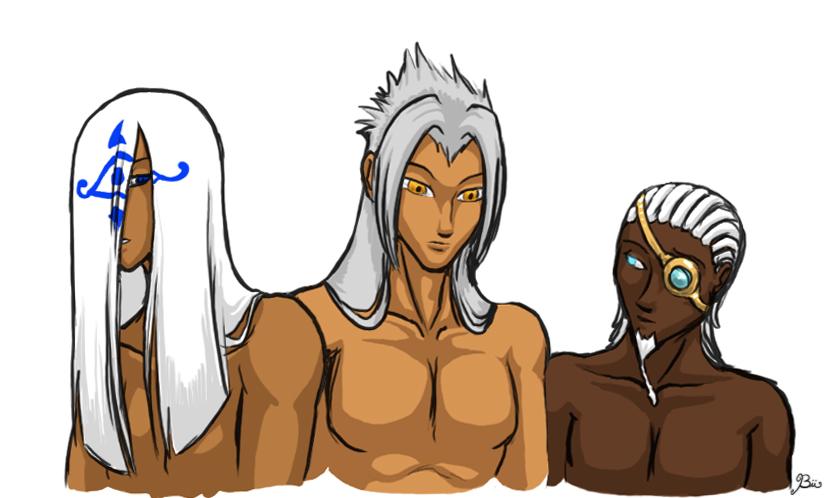 Dark Skin White Hair By Biigurutwin On Deviantart