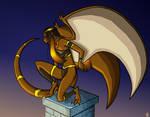 Exevala as a Gargoyle