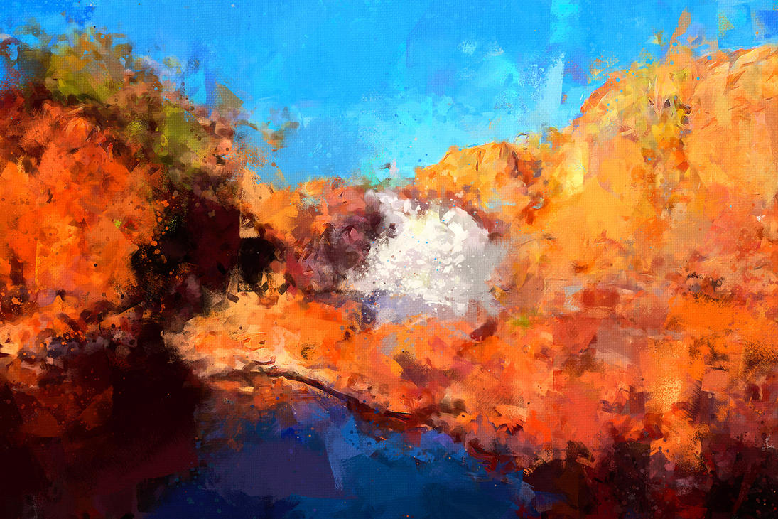 Edith Falls, NT, Australia by Cr8ivDigitalPainting