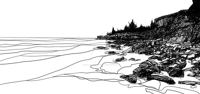 Sketch - Dripstone Cliffs, Darwin NT