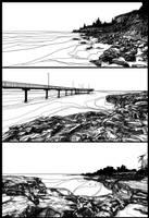 3 Sketches - beaches around Darwin NT