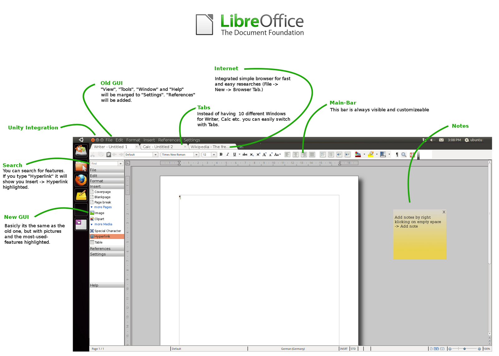 Libre Office Mockup 2 Unity