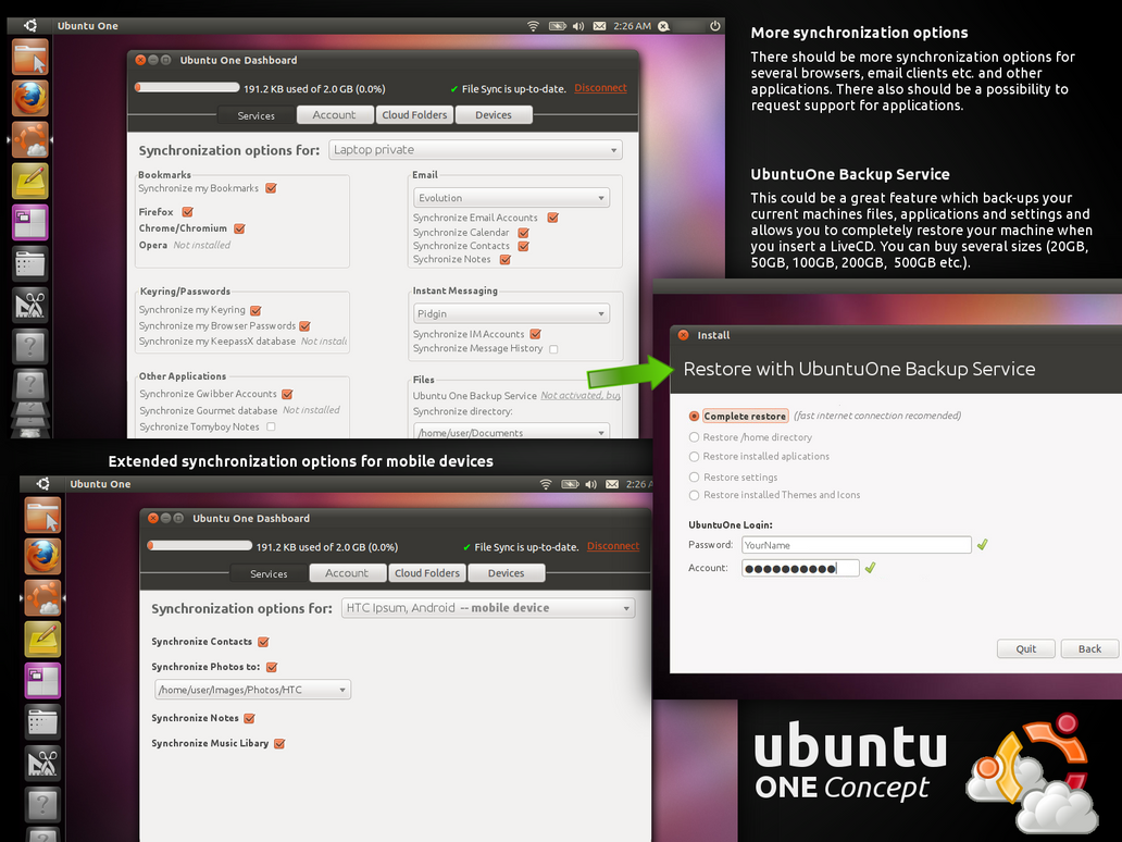UbuntuOne concept by usrnametaken