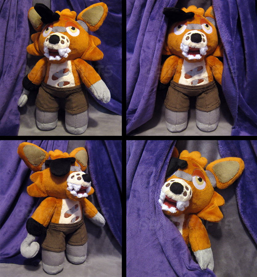 Foxy plush fnaf by gearcraft on deviantart