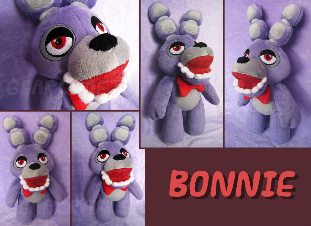 Bonnie plush fnaf by gearcraft on deviantart