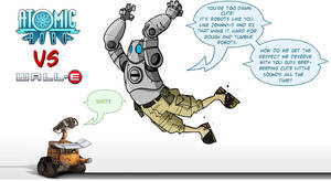 AtomicRobo VS WallE by mattcrap
