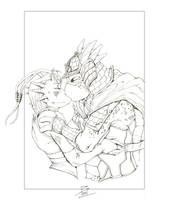 TMNT: Leo and Tuya by Lady-Valiant