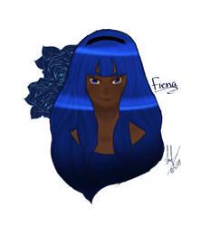 Fiena Blue Oc by Tealmealart