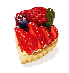 Berry tart by kkzt