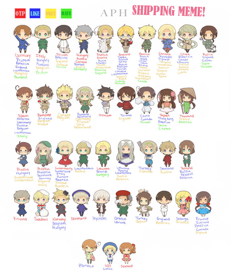 Hetalia Shipping Meme By Bun Niii On Deviantart